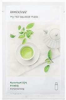 2017 Latest Innisfree My Real Squeeze Mask # Green Tea 20ml 10pcs