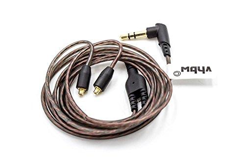 vhbw Audio AUX Kabel auf 3,5mm Klinkenstecker passend für Shure SE215, SE315, SE425, SE535, SE846 Kopfhörer - 120cm