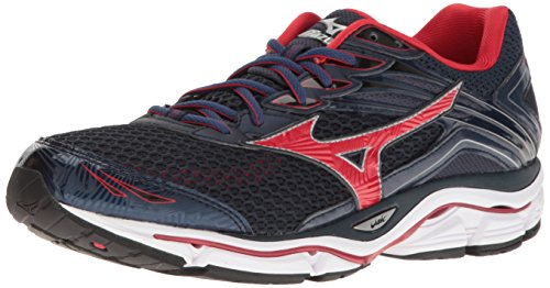 Mizuno Men's Wave Enigma 6 Running Shoe, Navy/Red, 8 D US