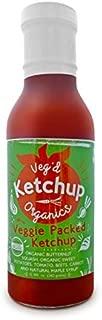 Veg'd Organics Vegan All-Natural Ketchup, Certified Gluten-Free, Diabetic Friendly, Hidden Veggies (1-Pack)