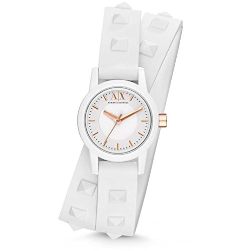 Jacob Time AX6023 Armani Exchange Silicone Ladies Watch - White Dial