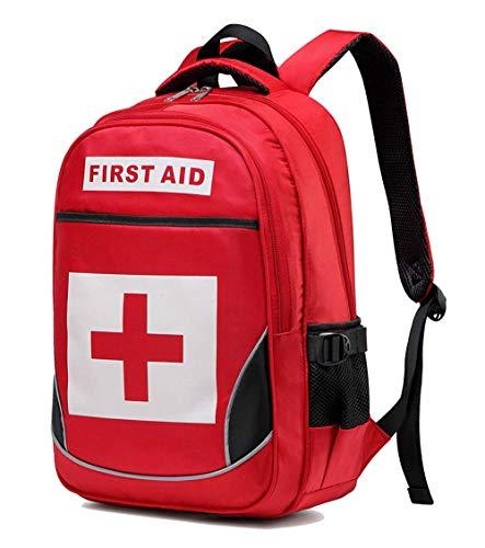 DYHQQ Borsa Medica di Pronto Soccorso, Zaino Vuoto per trattamenti di Emergenza Ampia Tasca Multiuso con Primo soccorritore per Escursioni in Campeggio