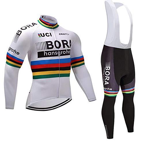 TOPBIKEB Ropa Ciclismo Verano para Hombre, Ciclismo Maillot Mangas Largas y Ciclismo Culote Bicicleta