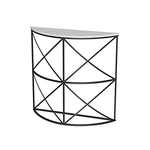 """N\C Entryway Sofa Table Hall Console Table,Half Moon Modern Metal and Marble Accent Table, End Table For Living Room/Dining Room/Corridor/Hall 31""""×11.8""""×31"""" for Living Room Bedroom"""