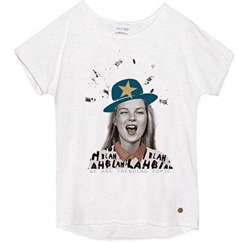 Dear Tee K Star Camiseta, Blanco (White), Small (Tamaño del Fabricante:S) para Mujer