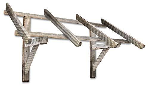 VERDELOOK Tettoia in legno di pino impregnato, larghezza 140 cm, sporgenza 67 cm e altezza 80 cm, legno naturale