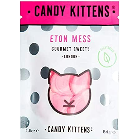 Candy Kittens Eton Mess Vegetarian Sweets - Palm Oil Free, Natural Fruit Flavour Candy - Gummy Chewy Gourmet Sweets, 54g (Pop Bag)