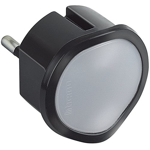 BTicino Torcia d'emergenza estraibile e Luce Notturna S3625GL, 220 volt, grigio antracite
