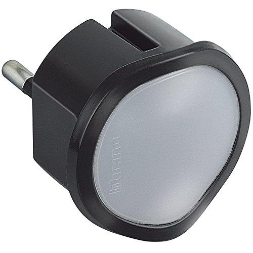 BTicino S3625GL Torcia d'Emergenza Automatica con Funzione Luce di Cortesia Regolabile, 250 V, Nero