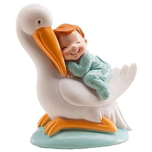 DEKORA Figura Cigüeña Bebe azul