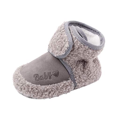 H.eternal(TM) Zapatos casuales cómodos para bebé, botas de bebé, recién nacidos, niños, dibujos animados, zapatos para primeros caminantes, botines para caminar, color Gris, talla 12-15 meses