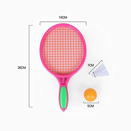 CXD Raqueta de Tenis, Playa Raqueta de Tenis para niños Raqueta de Tenis de Deportes al Aire Libre Raqueta de Tenis (Incluyendo Bola),Rosado,2