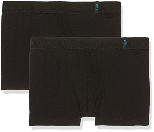 Schiesser Jungen 95/5 Multi-Pack 2Pack Shorts Boxershorts, Schwarz (Schwarz 000), S (2er