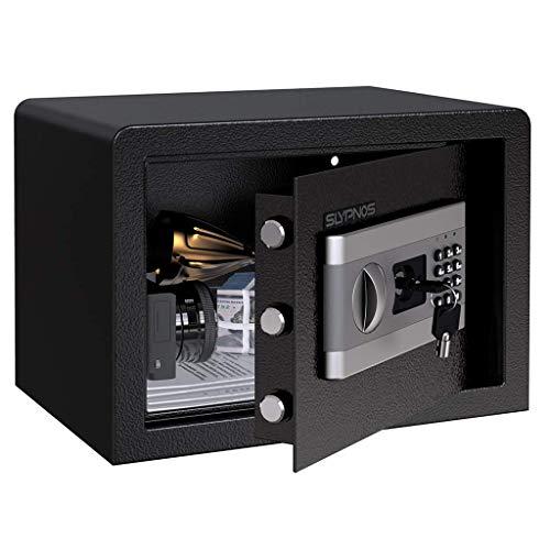 Tresor Safe Slypnos 35x25x25 cm mit 3 Doppelstahlbolzen, elektronischem Zahlenschloss, 2 Notfall Vorrang Tasten, 4 Batterien, für Schmuck Bargeld Dokument 商品编码: 781871733296