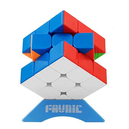 FAVNIC Cubo de Velocidad, Magnetic Cubo de Mágico 3X3 Rompecabezas sin Etiqueta Juguetes