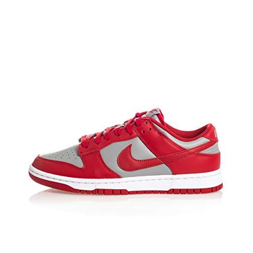 Nike Herren Dunk Low Retro Basketballschuh, Med Grey Varsity Red White, 41 EU