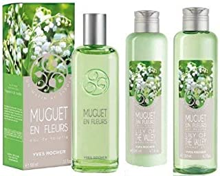 Yves Rocher Muguet en Fleurs Lily of the Valley 3-piece Fragrance Set. THIS EDITION IS NOT AVAILABLE IN USA. Imported from France.