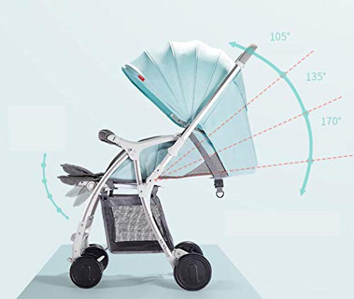 RAPLANC High Landscape Stroller, Lightweight Foldable, 4Seasons Universal, Stereo Shock Absorber, 360-Degree Rotation Function, Color : Green,Black RAPLANC * stereo shock absorber frame structure to prevent your baby from receiving shocks *Widened and extended sleeping basket, spacious, baby activities freely *Four seasons universal /increased storage basket / five-point seat belt 2