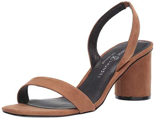 Chinese Laundry Women's YUMI Heeled Sandal, Toast Suede, 8 M US