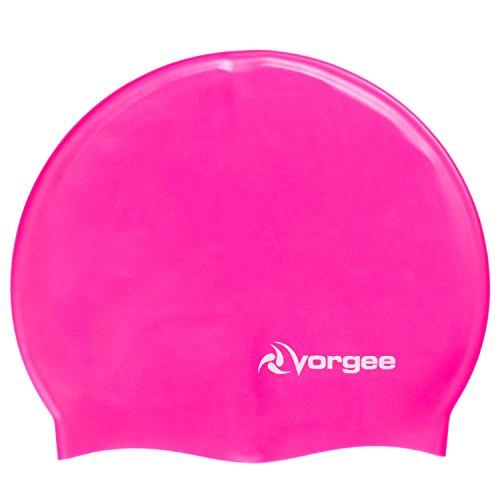 Vorgee Super-Flex Silicone, Cuffia da Piscina Unisex-Adulto, Rosa Fluo, Taglia Unica