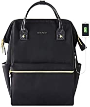 KROSER Laptop Backpack 15.6 Inch Stylish School Computer Backpack Doctor Bag Water Repellent College Casual Daypack with USB Port Travel Business Work Bag for Men/Women-Black
