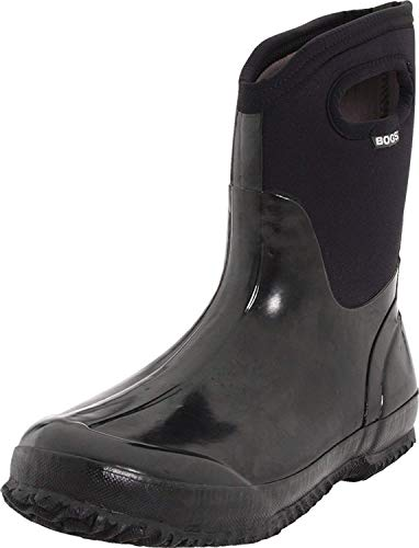 Bogs Women's Classic Mid Waterproof Insulated Boot, Black,7 M US