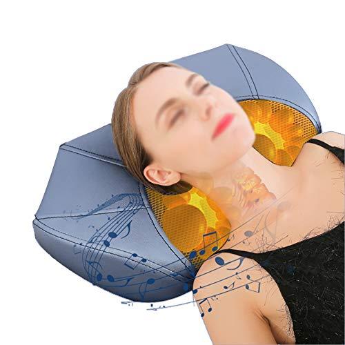 Ngls Inteligente Bluetooth Música Almohada De Masaje De Cuello Eléctrico Tracción Masajeador Cervical con Transmisión De Voz Y 3 Archivos Control De Temperatura