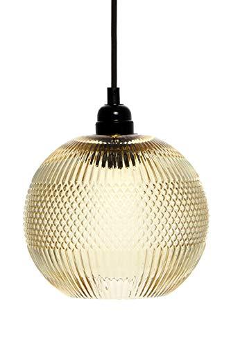 Lámpara redonda de cristal, lámpara de techo, moderna, color amarillo y naranja