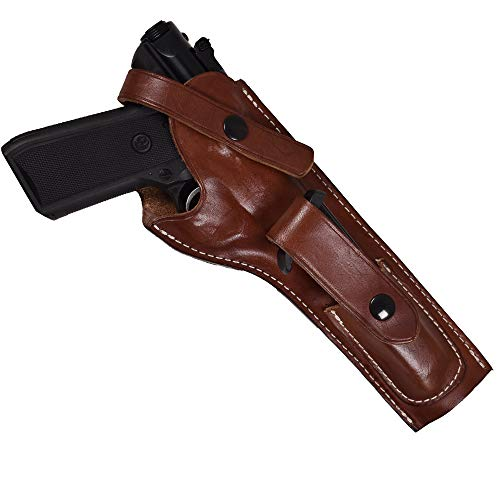 Leather Holster for Ruger MK I, II, III with 5.5-Inch Barrel and Mag Pouch| Ruger Mark II Leather Holster|Proudly USA Made |Ruger Mark I Holster| Ruger Mark II Holster| Ruger MarkIII Holster| (Right)
