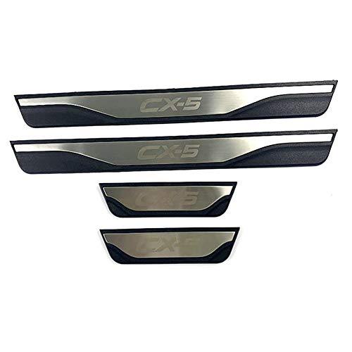 4pcs Door Sill Protector Strip Auto Pedal Sticker Car Threshold Scuff Plate Protective Pad Trim Car Styling for Mazda CX-5 CX 5 CX5 2013 2015 2016 2018 2019 2020