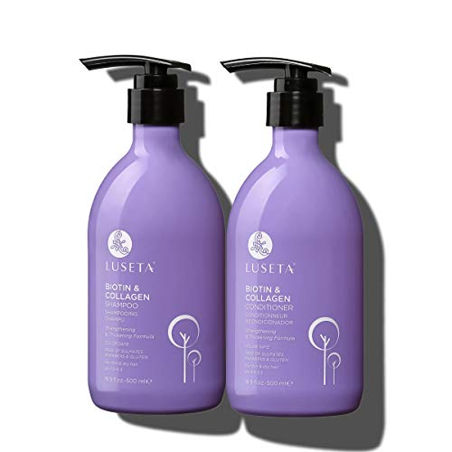Luseta Biotin & Collagen Shampoo & Conditioner Set 2 x 16.9oz - Thickening for Hair Loss & Fast Hair...