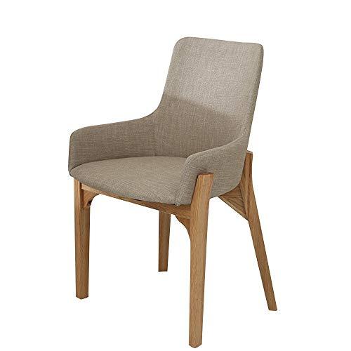 FYMDHB886 Eetstoel Massief hout barkruk Onderhandelingsstoel Koffiestoel fauteuil Buiten terraskruk Thuis restaurant rugleuning stoel Kantoorsalon stoel, Size, Wood color