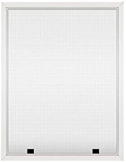 Assembled Custom Size Window Screens (White)