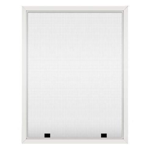 Assembled Custom Size Window Screens (White)