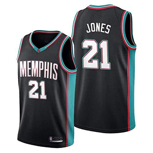 ZMIN Uniformes de Baloncesto de los Hombres Grizzlies # 21 Jones NBA Jersey Transpirable y Secado rápido Camisetas Camisetas Casuales Camisetas de Baloncesto,B,L 175~180cm