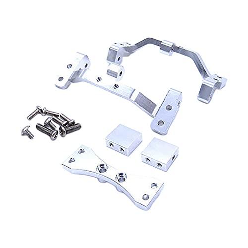 Hellery 1:12 Metal Pull Rod Base Asiento Servo Montaje Fijo Piezas de Repuesto para MN D90 D91 D96 D99S Modelo Camiones DIY Accesorio - de Plata