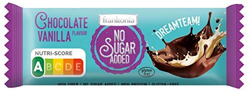 frankonia CHOCOLAT NO SUGAR ADDED Schokolade Vanille Nutri Score A, Schokolade, 50 g