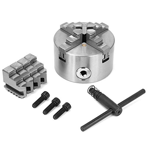 Best Review Of 4inch 100mm 4 Jaw Self-Centering Lathe Chuck with Extra Jaws Turning Machine Accessor...