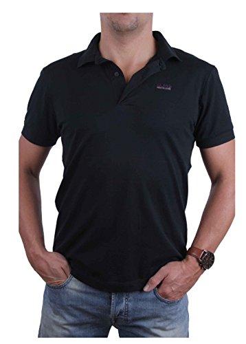 Roberto Cavalli Herren Poloshirt Polo (L, Schwarz)