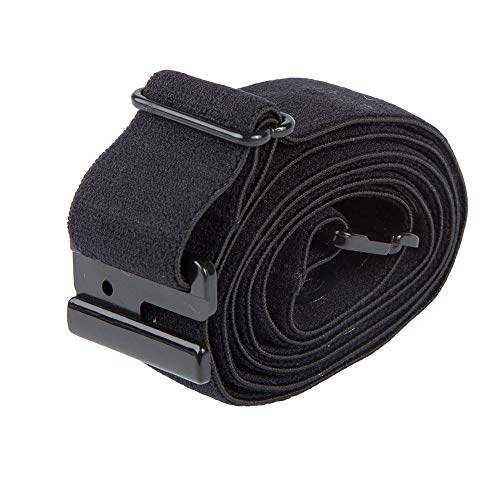 Adjustable Stretch Belt: No Show Flat Buckle, Non-Slip Backing (Belt-Loops not required)…