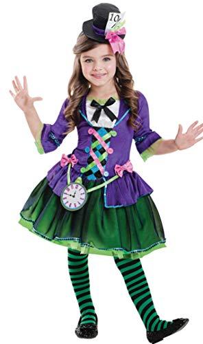 Amscan Disfraz de gótico Sombrerero Loco gótico para niños XL (11-12 Years)