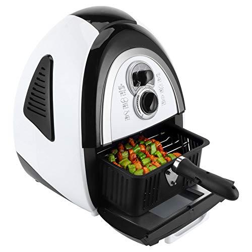 Freidora de aire, Airfryer inteligente, Freidora eléctrica de 4.5L Máquina automática inteligente para freír papas fritas, para asar, recalentar, hornear, antiadherente, fácil limpieza
