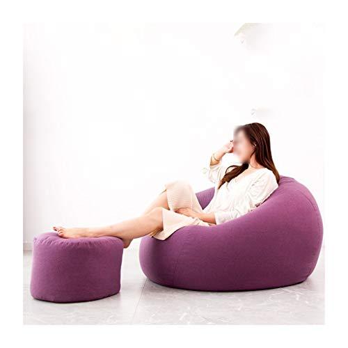SD Bean Bag Chaise/Pouf Poire/Confortable/Durable/avec Mousse Ultra Confortable/1 Poches/avec Repose-Pied/pour Enfants et Adultes