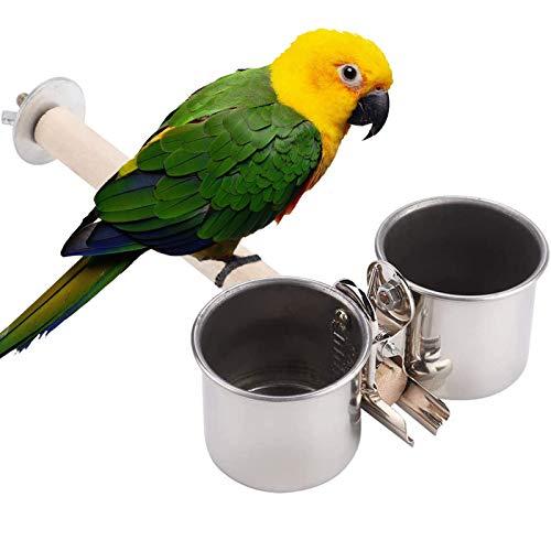 ZONSUSE Comedero para Pájaros,Taza de Comida para Pájaros,Taza de Alimentación de Loros,para Alimentación de Loros,Palomas (M)