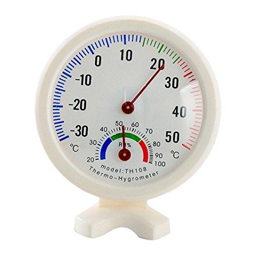 Hunpta Mini Rond Clock-shaped Intérieur ou extérieur hygromètre humidité Thermomètre de température Mètre Jauge