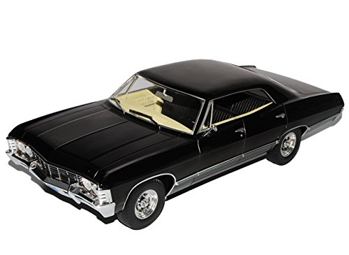 Greenlight Chevrolet Impala Sport Sedan 1967 Limousine Schwarz Supernatural 1965-1970 1/18 Modell Auto mit individiuellem Wunschkennzeichen