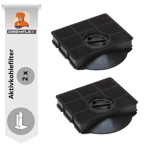 DREHFLEX AK03-2, Filtro de carbón para campana extractora compatible con AEG-Electrolux 9029793602 Bauknecht Whirlpool 484000008581, E3CFE303 Type3 CHFAT303 303 AM. C895 AMC8959