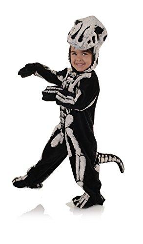 UNDERWRAPS boys Toddler's T-rex Skeleton - Fossil Costume, Black/White, Large 2-4T US