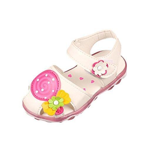 Chaussures Fille Et/é Sandales de Plage Filles WINJIN Sandales Plates Enfants Chaussures Bout Ouvert Girl Pricness Shoes Chaussures de Fleur Rubber Sole Chaussures B/éb/é pour 1 /à 14 Ans Argent Or Noir