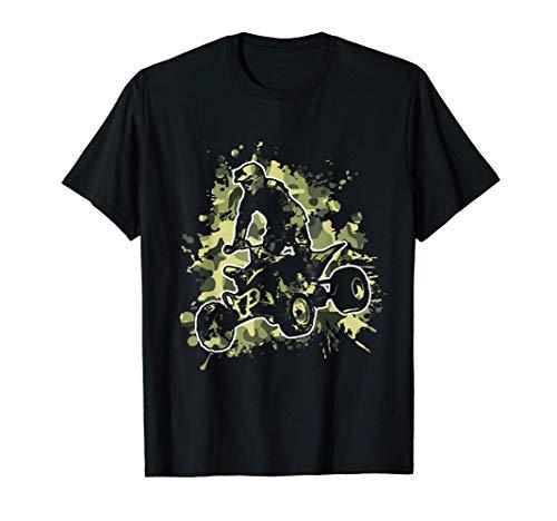 Hombre Quad Bike Camo Camouflage Jinete Del ATV Regalo Camiseta